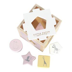 LITTLE DUTCH. Ξύλινο παιχνίδι ταξινόμησης σχημάτων Pink