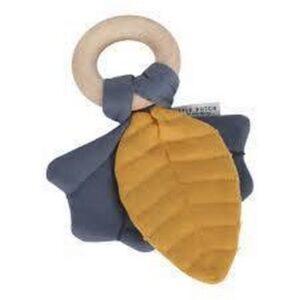 LITTLE DUTCH. Ντουντού φύλλο με μασητικό Pure & Nature (μπλε)