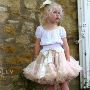 DOLLY BY LE PETIT TOM PRINCESS IVORY PETIT SKIRT CREAM